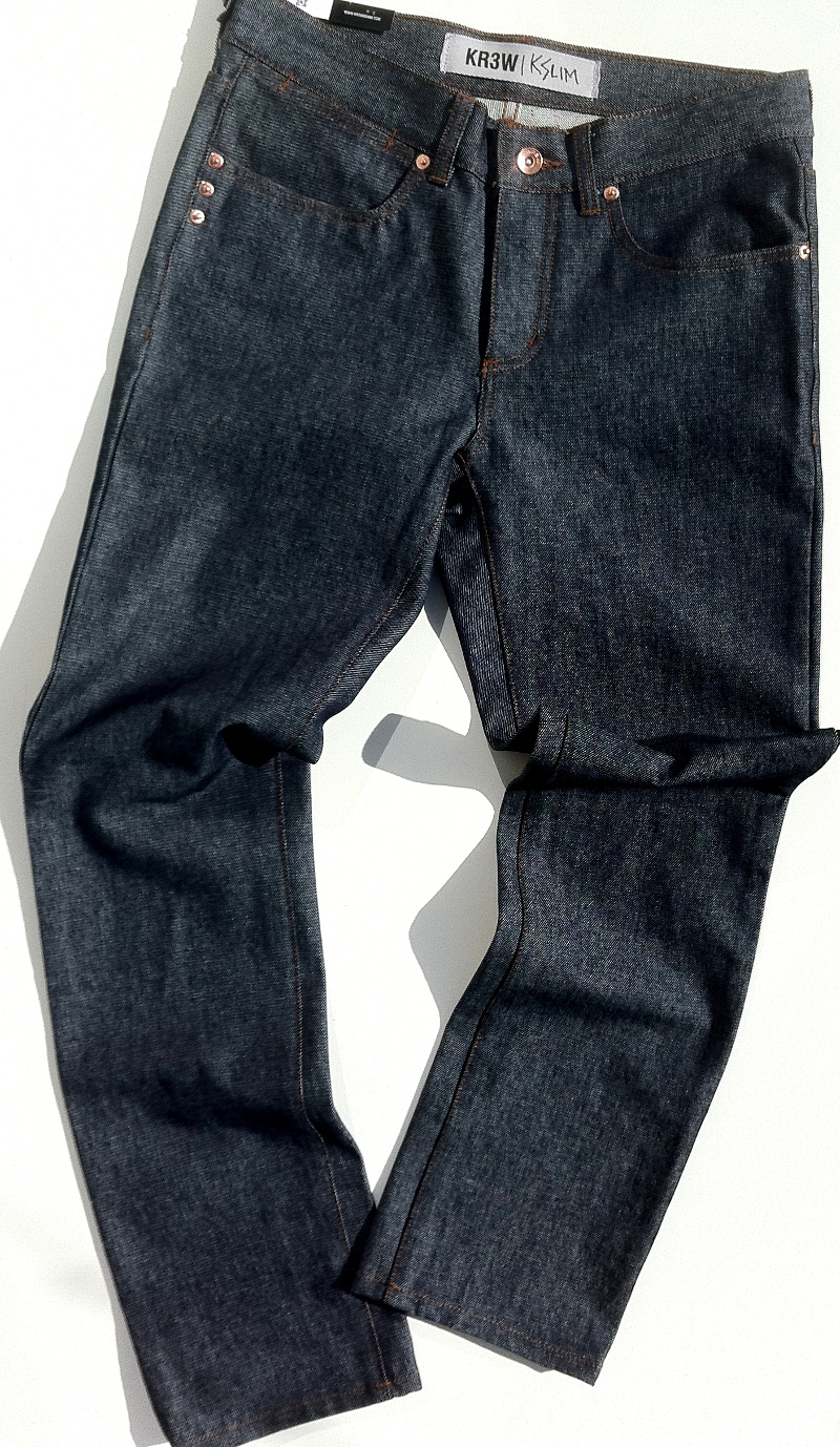 Krew Jeans Slim Basics Raw Blue