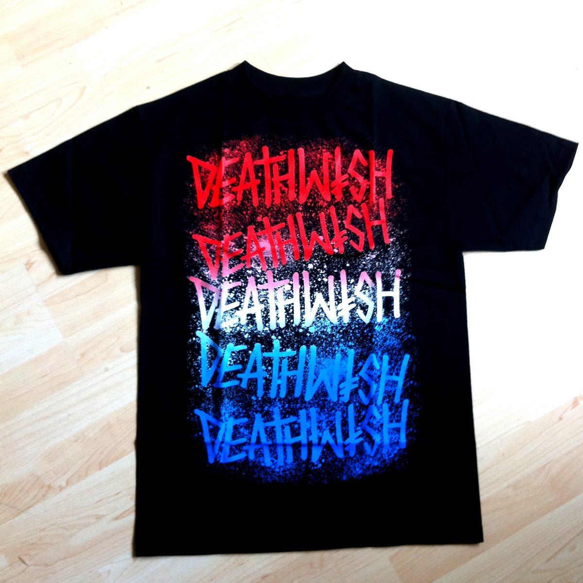 Deathwish Shirt Stacks Black - Red/White/Blue
