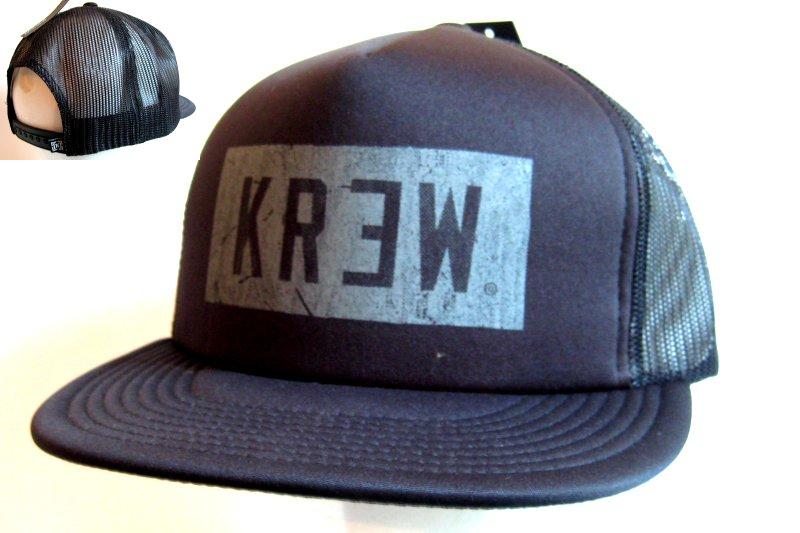 Krew Cap Block Trucker Schwarz