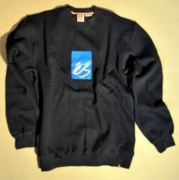 eS Main Block Crew Fleece Navy
